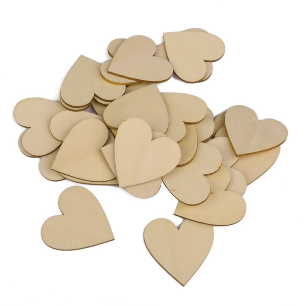 250mm Blank Heart Wood Slices Discs DIY Crafts Embellishments (Wood Color) - Shenzhen ZHCX Company store
