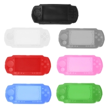 цена на 1PCSilicone Soft Protective Cover Shell for Sony PlayStation Portable PSP 2000 3000 Console For PSP3000 Body Protector Skin Case