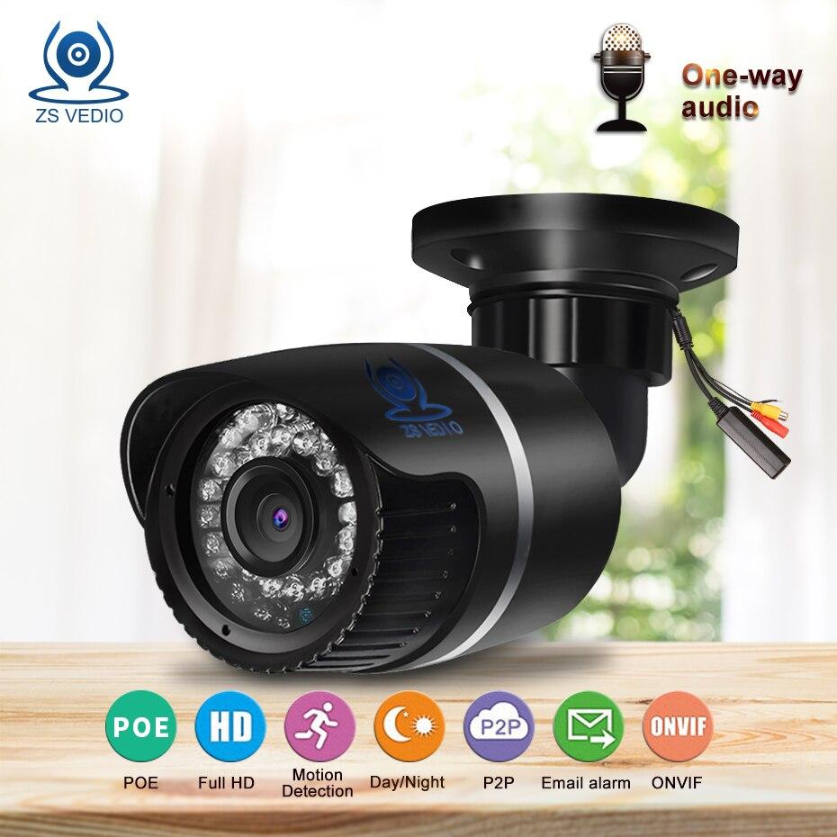 ZSVEDIO Surveillance Cameras POE IR Night Vision IP Camera Outdoor Alarm System CCTV Camera Waterproof NVR CCTV Monitor Webcam