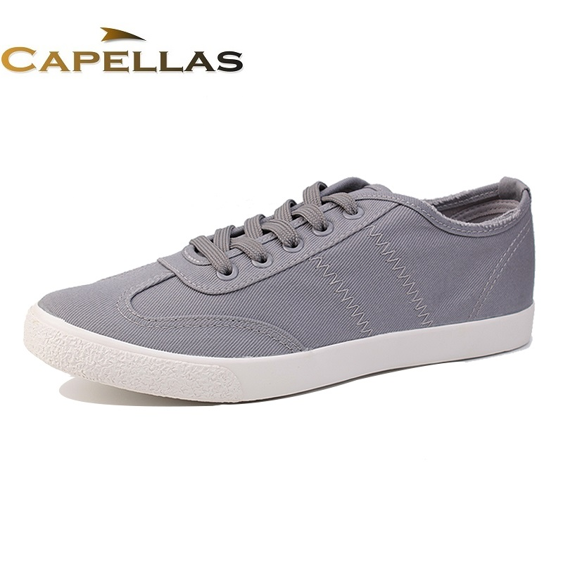 купить  CAPELLAS New Mens Casual Shoes Canvas Shoes for Men Lace-up Breathable Fashion Spring Autumn Men`s Canvas Shoes Flats EU 39-44  онлайн