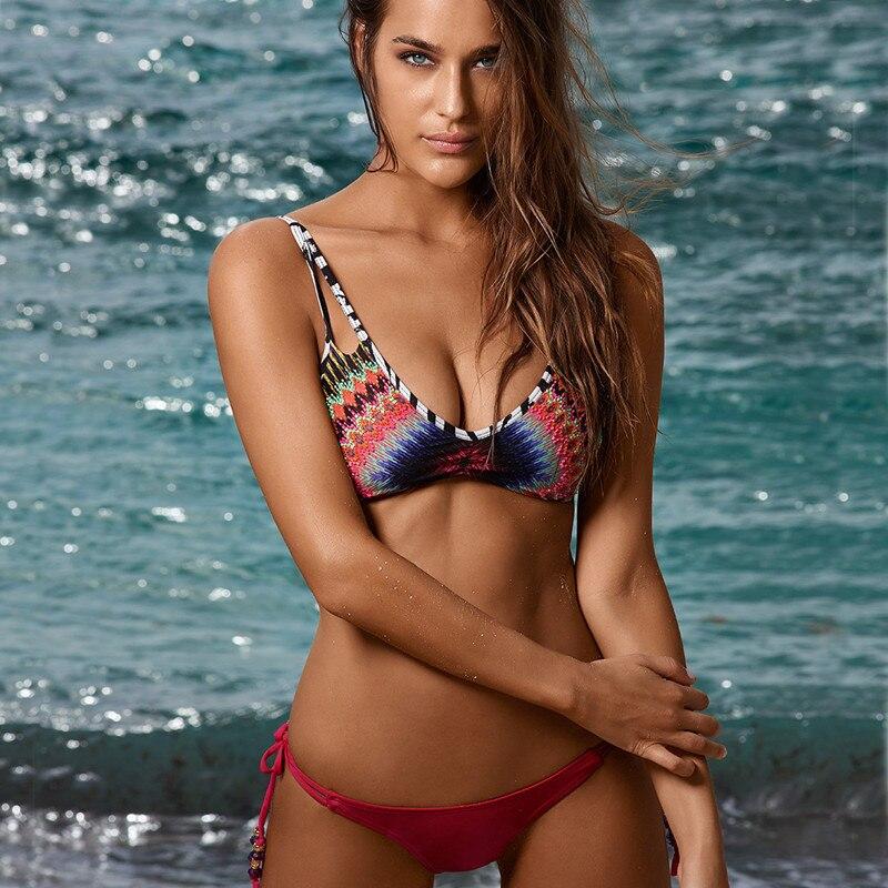 Swimsuit Condole Belt Sexy Bra Set Underwear Set 2016 Women Sexy Lingerie Female Sexy Bra And Panty Sets Summer Beach Bikini