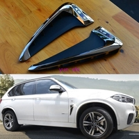 2 Pcs ABS Car Front Fender Decoration Side Air Vent Nozzle Stickers Car Styling Covers For