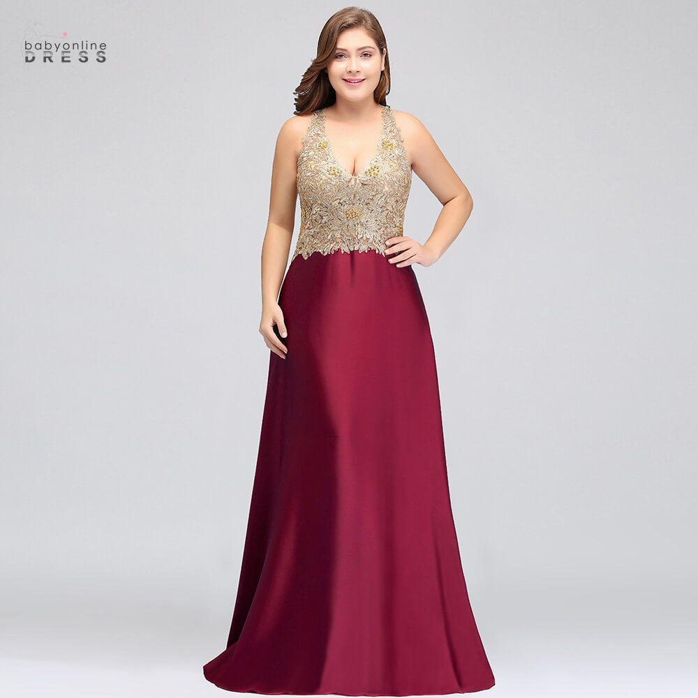 Luxury Burgundy Long Lace Plus Size Evening Dress With Crystal Sexy Criss-cross Backless Evening Gowns Vestido De Festa