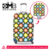 Travel Accessories Luggage Protective Elastic Stretch Cover Floral Multicolor Waterproof Suitcase Cover For 18-30 Inch Case