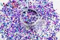 HA2515-274 Holográfica Láser Color de La Mezcla Forma Hexagonal Cequis Del Brillo para el arte del clavo de DIY y la decoración de Vacaciones