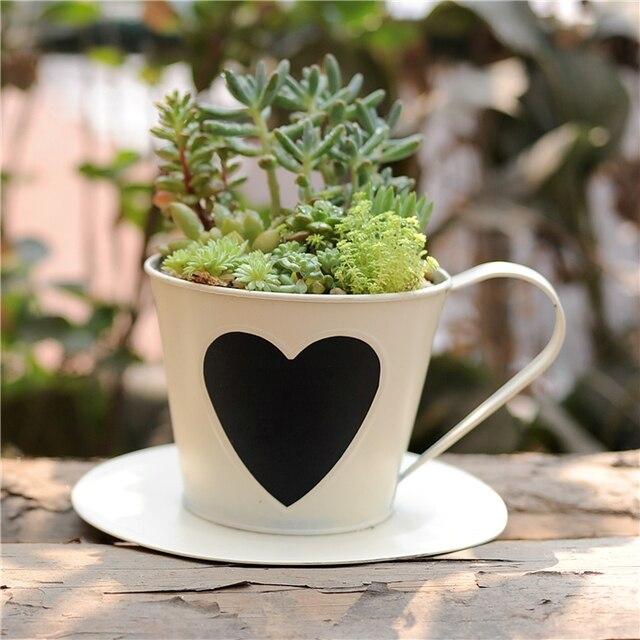 Iron Classical Vase Pot Pastoral Style Metal Flower Vase Succulent