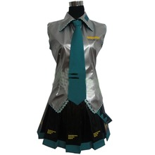 Супер сплав Хацунэ Мику Vocaloid Детские тематические костюмы девушки ткань Любой Размер