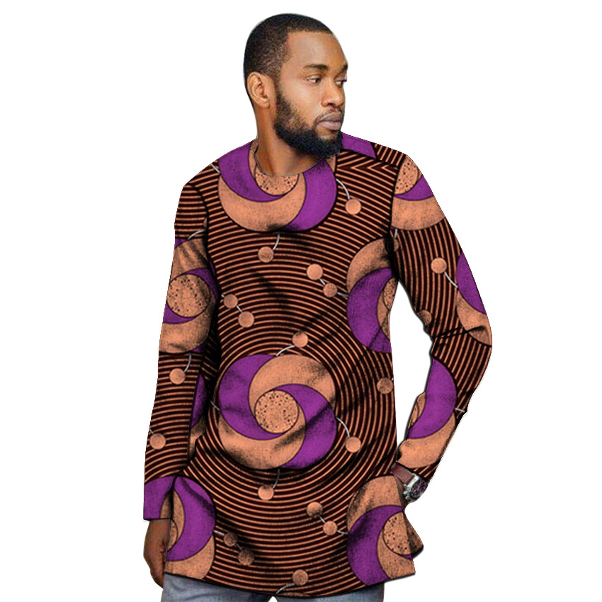 Image 2 - African outfits men's shirt custom made Ankara o neck dashiki print groom tops male formal Africa clothing-in Tuxedo Shirts from Men's Clothing
