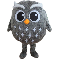 The new cartoon dolls owl mascot costume adult size free shipping performers