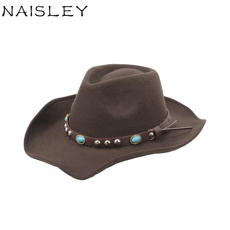 NAISLEY Men And Women Wool Cap Fedora Co