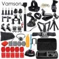 Gopro аксессуары go pro комплект для монтажа SJ4000 gopro hero 5 4 3 Black Edition SJCAM SJ5000 камера случае xiaoyi грудь штатив VS84