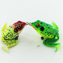 1Pcs 9g/12g High Quality Target Simulation Soft Ray Frog with Leg Fishing Lure Soft Bait Top water Crankbait Tackle Bass Wobbler(China)