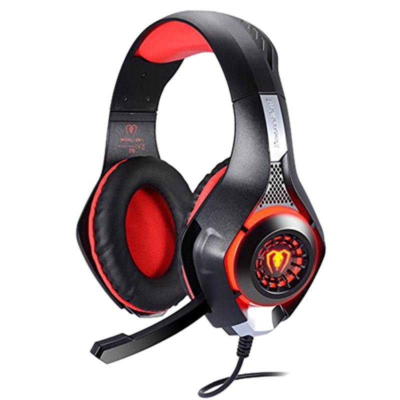 Professional 3.5mm PS4 Gaming Headset Headphone with Mic and LED Lights for Playstation 4, Xbox one,Laptop, Computer