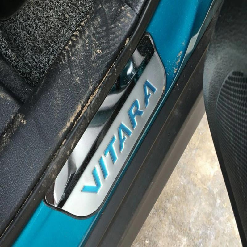 Pentru 2017 Suzuki Vitara Sill Door Gaurds Praguri Usi Inoxidabile - Piese auto - Fotografie 5