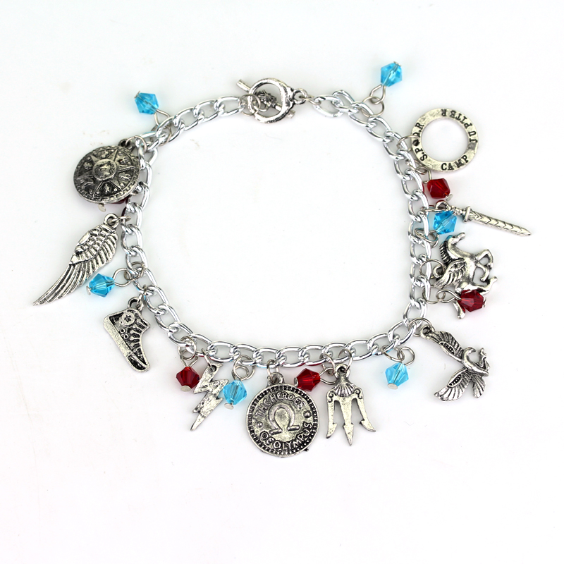 Percy Jackson And The Olympians Charms Bracelets For Women Pendants Bangles Wristbands Movie Jewelry For Female