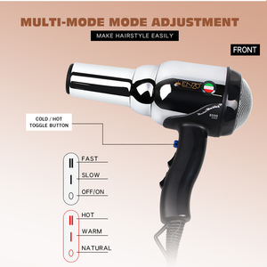 Image 2 - ENZO 8000W Metal body Salon Professional Hair Dryer Volumizer Negative Ion Blow Dryer Brush Hot/Cold With Air Collecting Nozzle