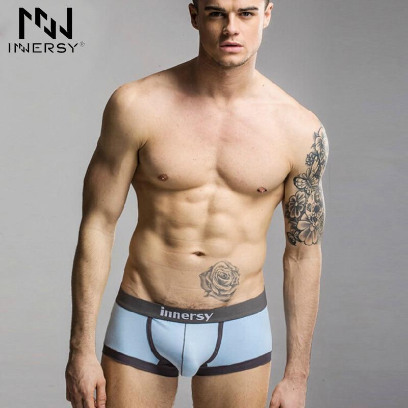 Innersy 2017 Brand Boxer Mens Underwear Boys Panties Sexy Boxer Shorts Modal -3700