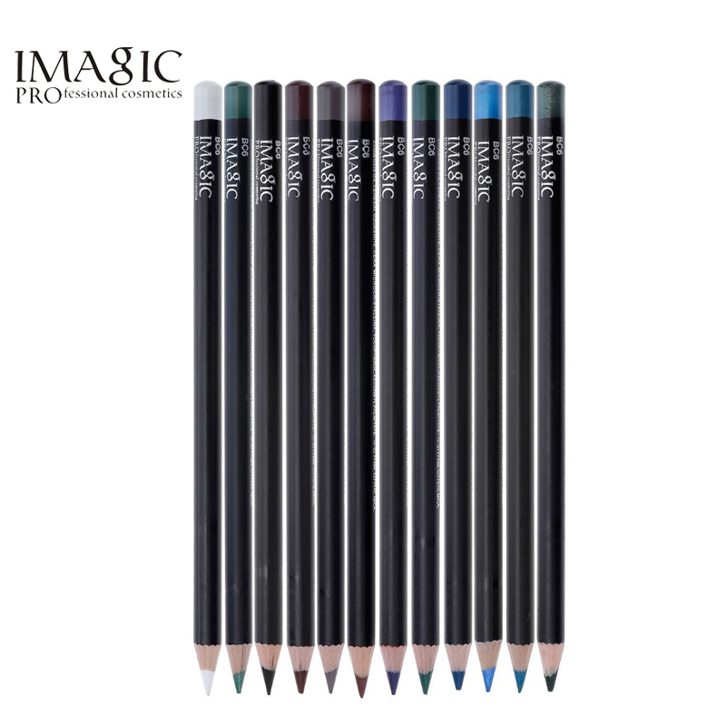 IMAGIC 12/pc Fashion Matte Colors Eyeliner Pencil Makeup Waterproof Long Lasting Eye Pencil Cosmetics