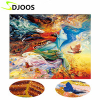 5d Diy Diamond Embroidery Painting Crystal Girl Character Bedroom Warmth Fantasy 3d Mosaic Diamond Embroidery Set
