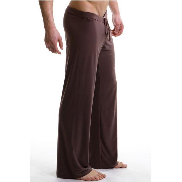 Sleep Bottoms Men's casual trousers soft comfortable Men's Sleep Bottoms Homewear XL pants pajama Lacing loose Lounge clothing
