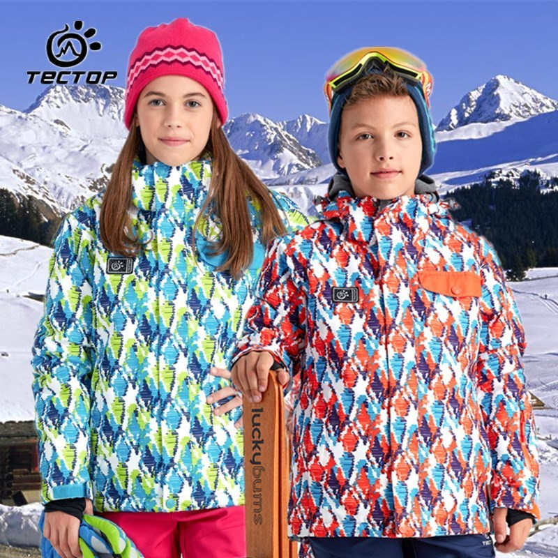 Tectop Kids Ski Jacket Winter Children Waterproof Snowboard Skiing Suit for Boys and Girls ski go мазь держания ski go lf