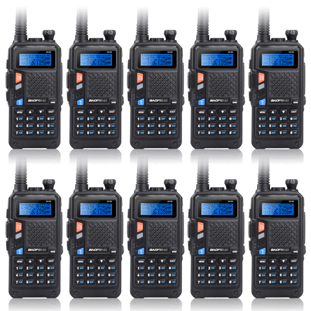 Upgrade 10PCS BAOFENG UV-5X Upgraded Version of UV-5R UV5R Two-Way Radio Walkie Talkie FM Function Original Main Board
