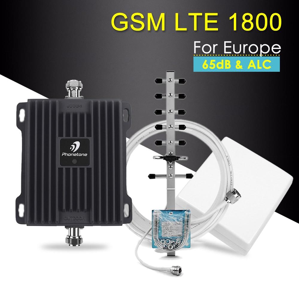 Amplificateur de Signal de téléphone portable 1800 MHz 2G GSM répéteur 65dB bande 3 amplificateur cellulaire + antennes intérieures extérieures ensemble complet utilisation familiale