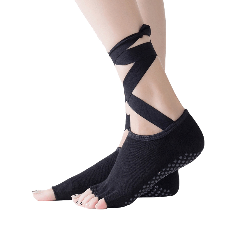 New 2018 Heel Protector Professional Ballet Dance Five Toes Socks Skid-proof Belly Dance Foot Thong Toe Pad Dance Stockings