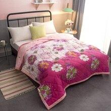 110×150 см летние Стёганое одеяло крышка кондиционер Стёганое одеяло с крышкой детей один с цветочным рисунком моющиеся кровать дома используйте fg643