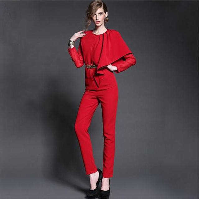 35b132ab7d8 Europe Runway Women plus size sexy jumpsuits beyonce bodysuit fashion long sleeve  romper macaquinho overalls female Jumpsuit