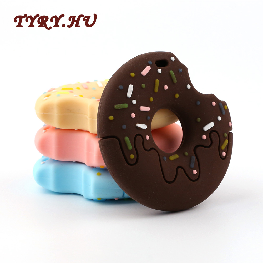 TYRY.HU Silicone Teether Biscuit Baby Nursing Accessories Cookies Silicone Cookies Teether Baby Shower Gift Bite Toys Gifts 1pcs