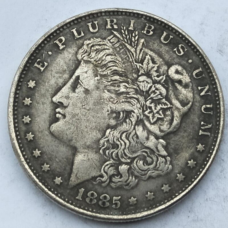 USA old replica coins copy Morgan dollar 1 dollar 1885 antique copper collectible coins liberty gift unit coins