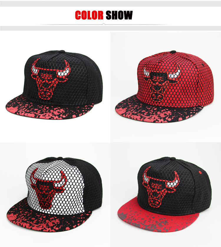 Details about NEW Chicago Bulls NBA Hats Cap Hip Hop Black Red Basketball  Fan Baseball Hat Cap a9bb3c19408