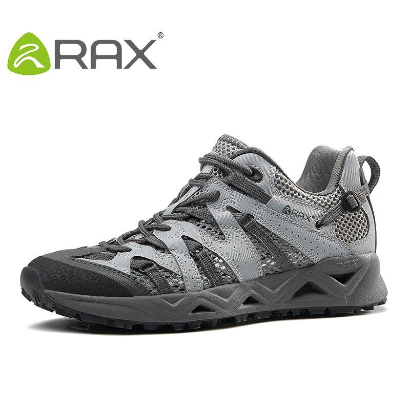 Rax Breathable Trekking Shoes Men Women Summer Lightweight Hiking Shoes Men Ourdoor Walking Fishing Shoes Men WomenZapatos rax genuine leather shoes breathable walking shoes men lightweight men s shoes
