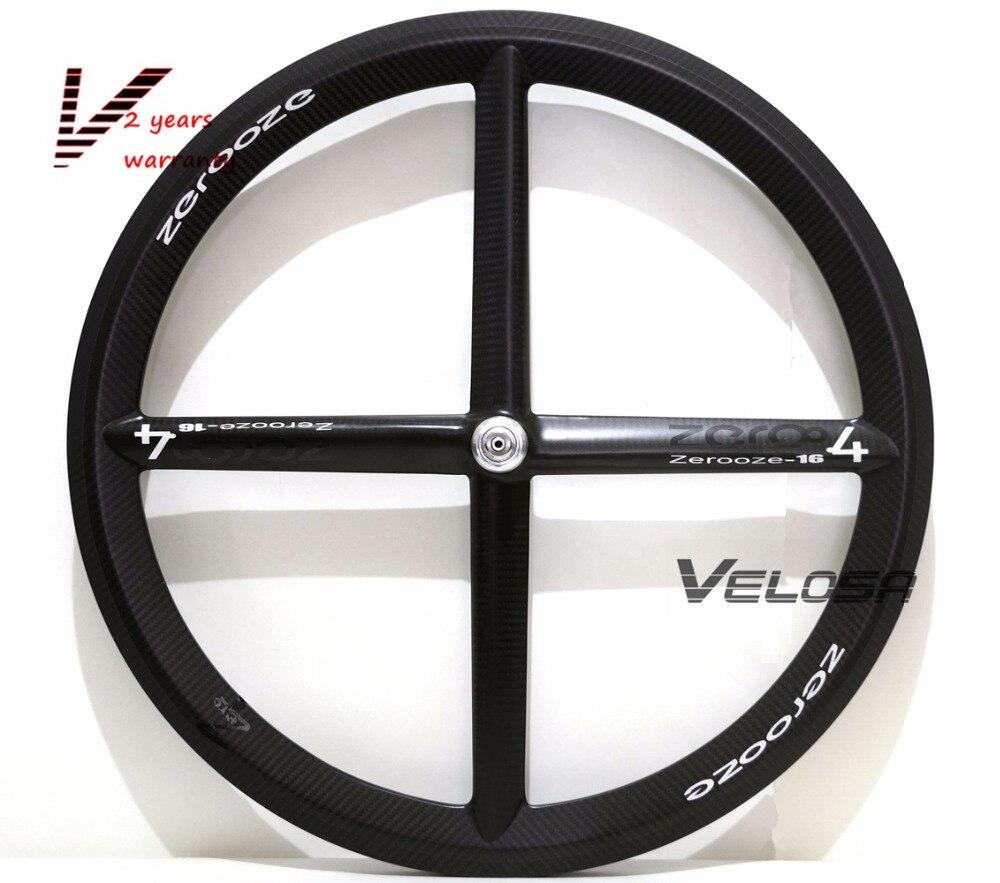 Full carbon 2017 New 4 spoke carbon wheel,Zero-4 clincher/tubular wheelset. for Track or Road bike wheel стоимость