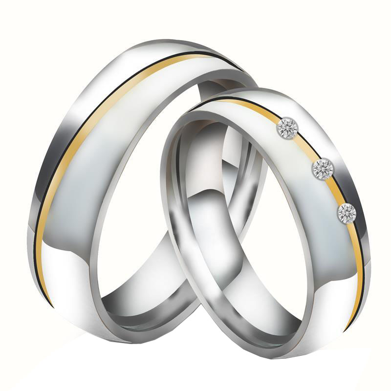 Nfs Pair Gold Silver Custom Alliance Stainless Steel Wedding Bands