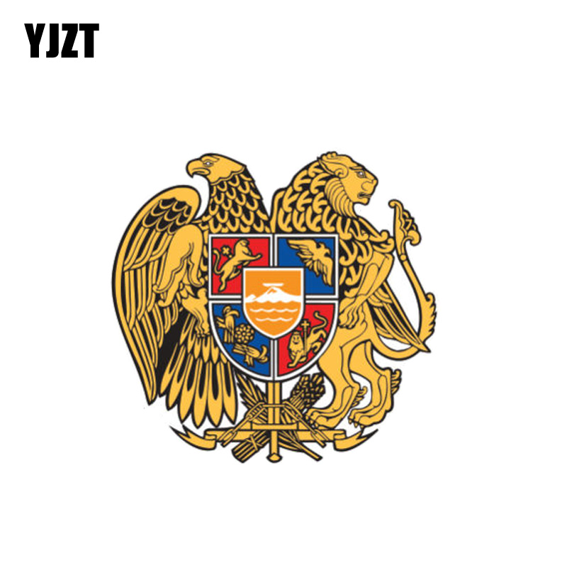 YJZT 10CM*9.7CM Creative Armenia Flag Coat Of Arms Decal Car Sticker Styling 6-1090