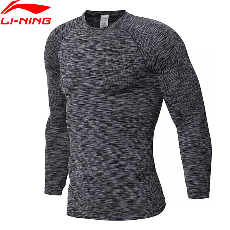 Li-Ning Men Training T-Shirt Long Sleeve Tight Fit Comfort Breathable Fitness Li Ning LiNing Sports Tee Tops AUDN007 MTL987