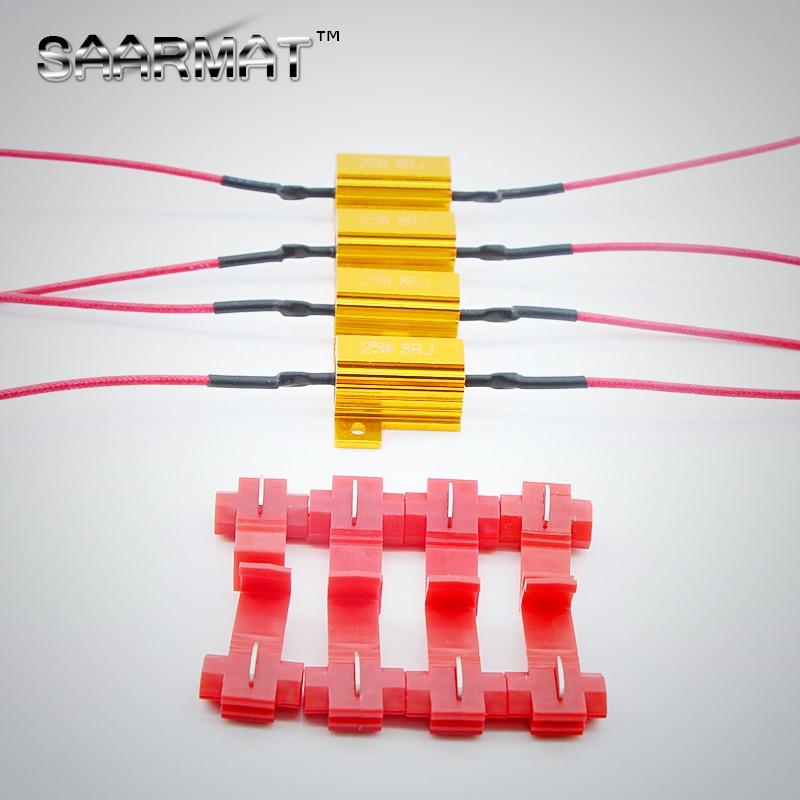 4X 25W LED  Reverse Brake Turn Signal Light Load Resistor Fix Error Fast Flash 7443 WY21W W21W 7440 P21/5W 1157 P21W 1156 PY21W