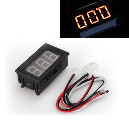 THGS Digital <font><b>LED</b></font> Ampere Meter <font><b>AMP</b></font> Panel Meter Ammeter DC 0 &#8211; 10A Gelb Neu