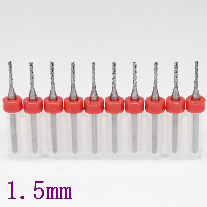 1.5mm PCB Milling Cutter 10PCS Metal Leather CNC Router Wooden Cutting Tool Swallow Texture Fresa Engraving Machine Accessories 3 175x17mm strawberry carbide tool pcb milling cutter cnc metal cutting machine router wood tools engraving machine accessories