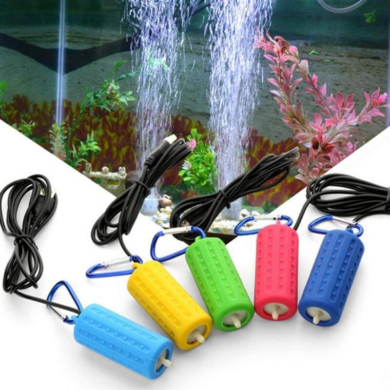 Портативный Миниатюрный аквариум с USB аквариумом, кислородный воздушный насос, бесшумные энергосберегающие принадлежности, водный Террари...