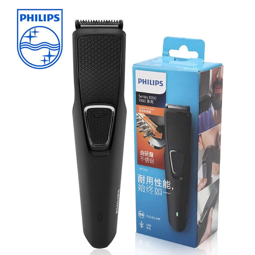 Philips Для мужчин борода триммер для стрижки волос машина для салон с Перезаряжаемые Титан лезвие Для Мужчин's Инструменты для укладки BT1214