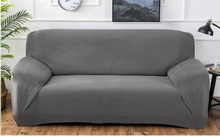 цена на Solid Thicken Polar Fleece Sectional Couch Covers Single Seater 2/3/4 Seater Sofa Covers for Living Room L Shaped Sofa Cover