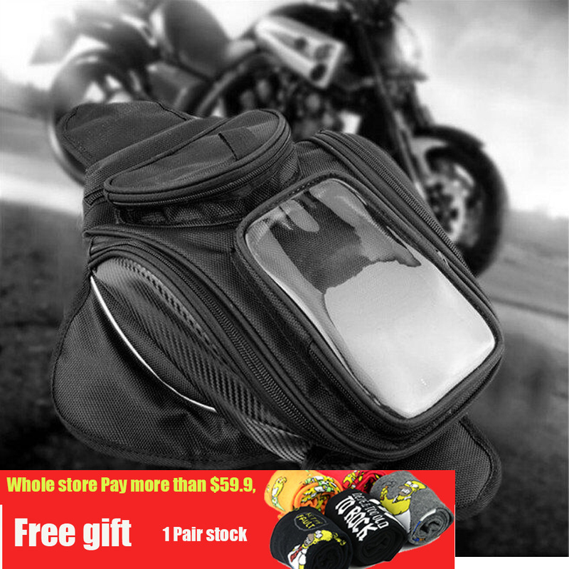 Big screen new Motorcycle tank bag motorbike oil fuel tank bag Magnetic Motorcycle Oil Fuel Tank Bike saddle bag motorcycle bag 1pcs refires vintage motorcycle fuel tank lock fuel tank cover motorcycle fuel tank cap for cg125