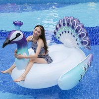 Giant Inflatable Peacock Pool Float Row Ride On Swimming Water Adult Children Party Toys 200X130X170CM Pool Float Circle