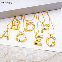 купить Canner Women A-Z Initial Letters Necklace Gold Silver Color Chain Letter Pendant Necklace For Women Girl Jewelry Gift дешево