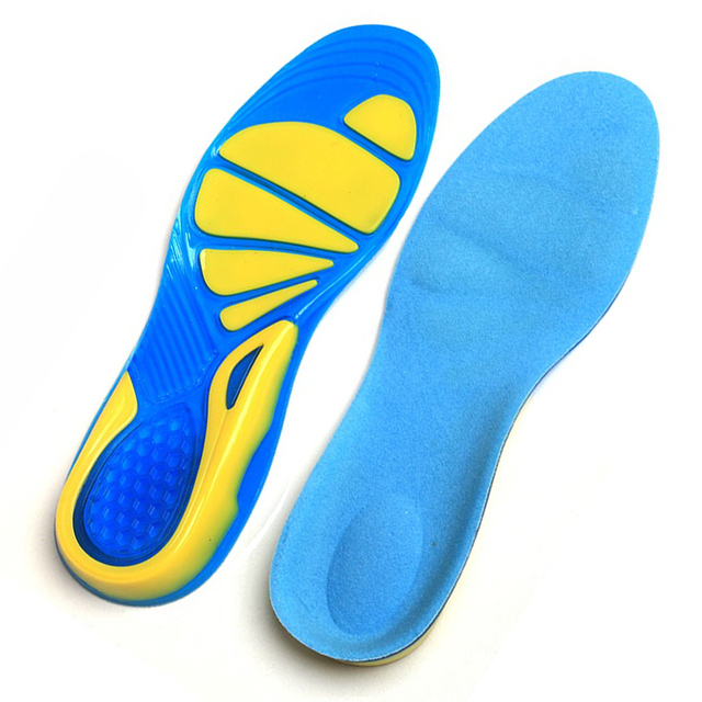 Silicone Gel Shoe Inserts for Plantar Fasciitis Heel Pain Insoles Shock Absorption Pads