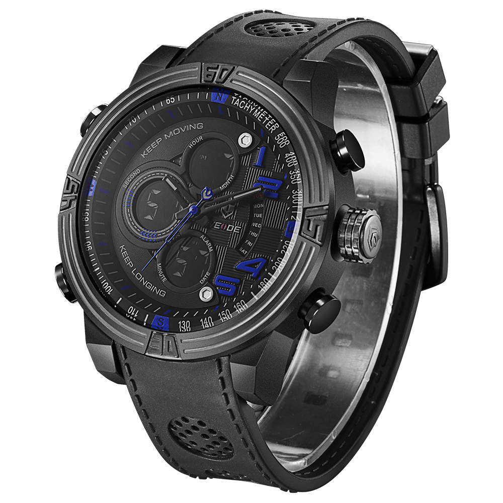 ФОТО WEIDE  Top Luxury Fashion Famous Watch for Men Running Outdoor Sports Quartz Watch Military Water Resistant
