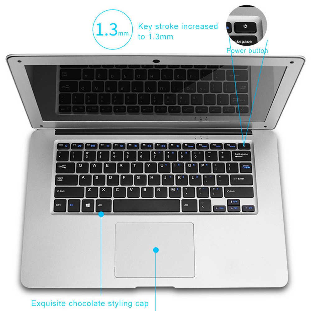 Laptop 14 Inch Windows 10 Intel Z8350 Quad Core RAM 4GB 64GB SSD ROM Notebook 1920x1080 màn Hình FHD Ultrabook với Bàn Phím Đầy Đủ